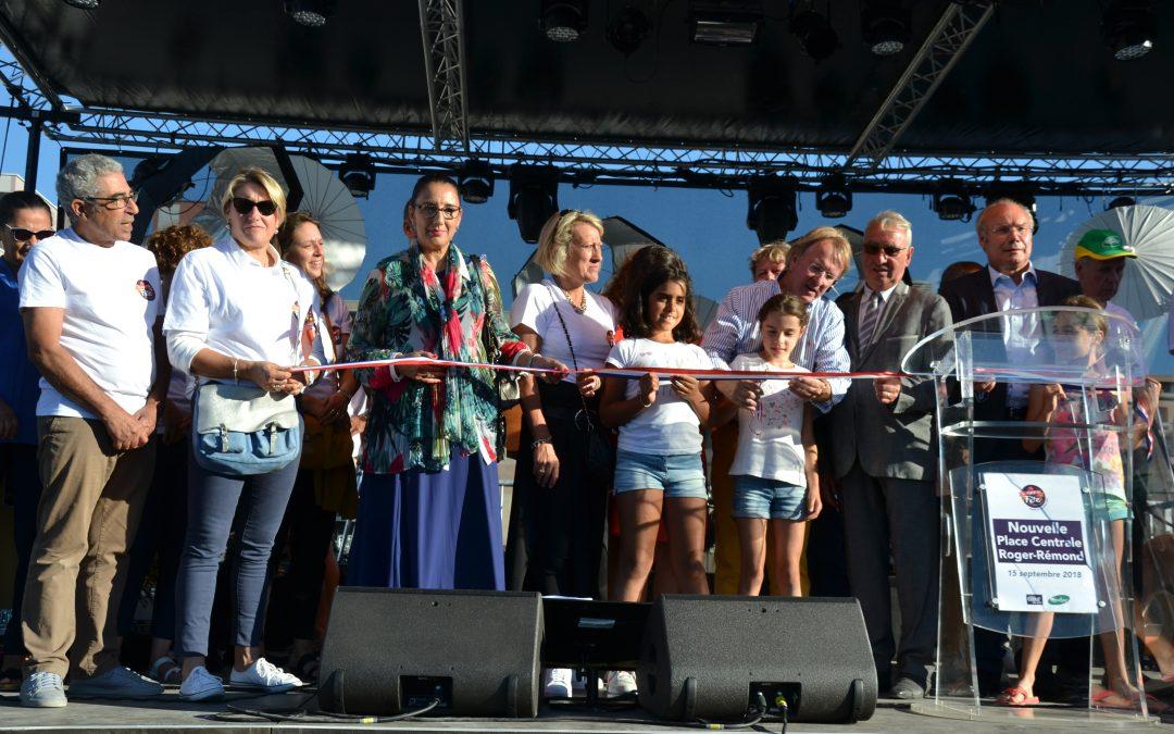 Inauguration de la nouvelle place centrale Roger REMOND