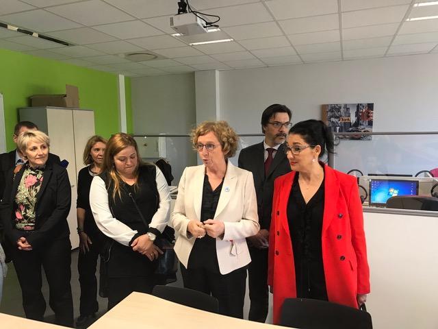 Visite de la Ministre du Travail Muriel Penicaud au CFA de la Noue de Longvic