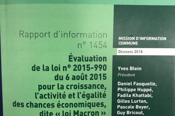 Remise du rapport sur la Loi Macron