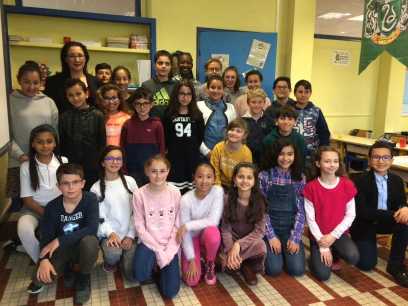 Parlement des enfants, la classe de CM2 de l'école des Huches à l'honneur