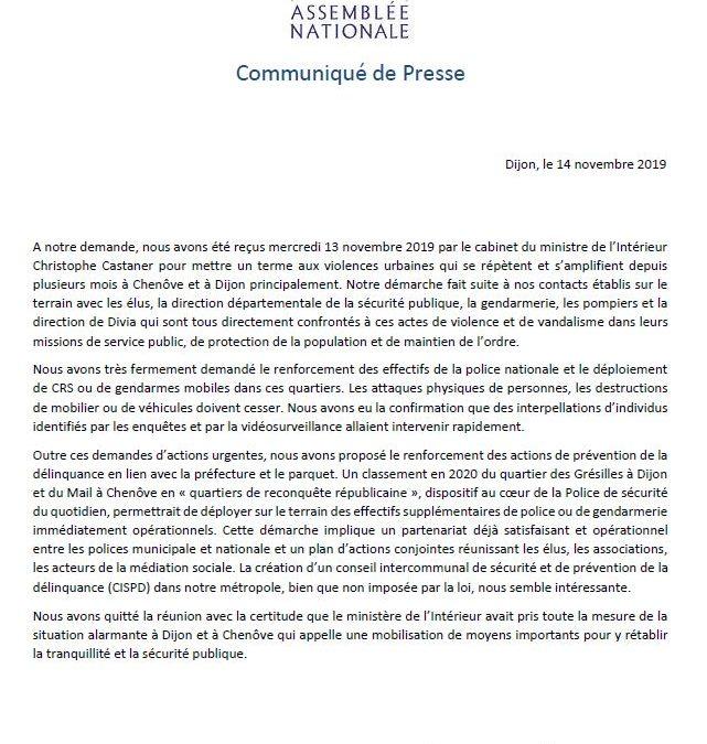 Violences urbaines à Dijon et à Chenôve :