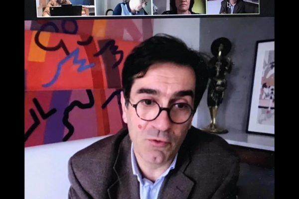 Ma Visio-Conférence avec le Nouveau Président d'Université de Bourgogne, Vincent Thomas